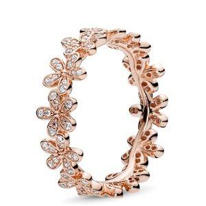 NIB Pandora Rose Gold Dazzling Daisy Ring Flower 5